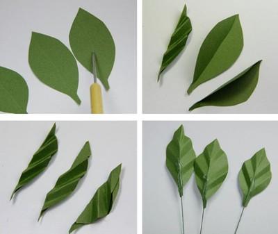 cách làm hoa hồng bằng giấy