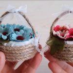 Cách làm giỏ hoa từ lắp chai và dây thừng