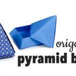 Cách gập hộp quà kim tự tháp bằng giấy cực đẹp