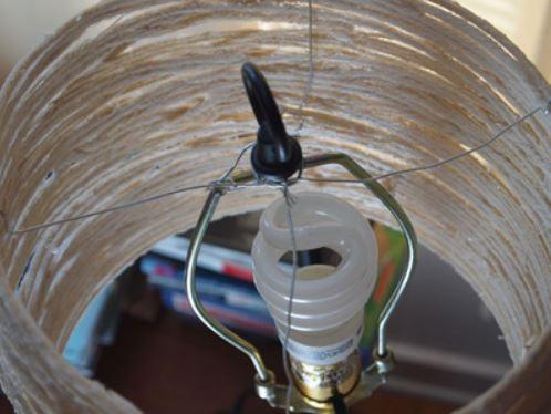 cách làm đèn bằng dây thừng