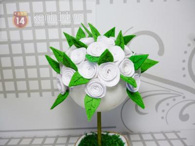 cách làm chậu hoa vải xinh xắn