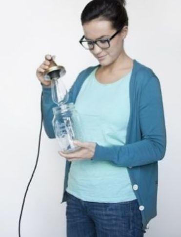 cách làm đèn treo bằng lọ thủy tinh