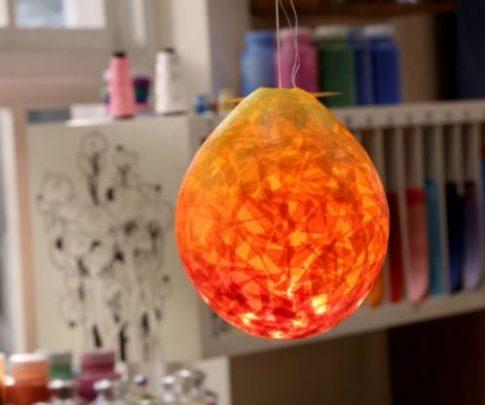 cách làm đèn treo bóng bay