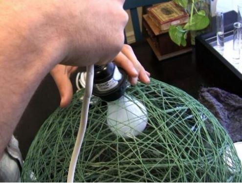 cách làm đèn treo từ dây thừng
