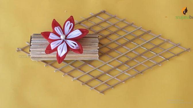 cách làm giỏ hoa treo tường