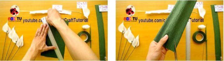 cách làm hoa lan bằng giấy