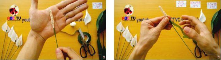 cách làm hoa lan ý bằng giấy