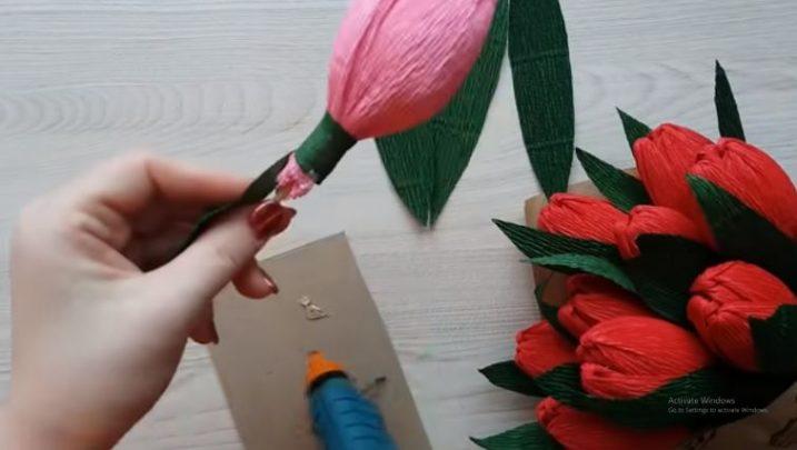 cách làm hoa tulip có kẹo
