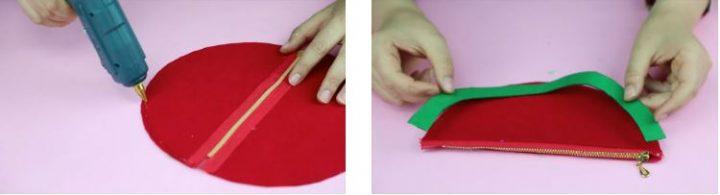 cách làm hộp bút hình dưa hấu