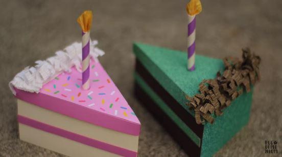 cách làm hộp quà hình bánh sinh nhật