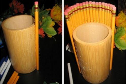 cách làm lọ hoa bằng bút chì