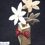 Cách làm lọ hoa trang trí bằng tăm tre tuyệt đẹp