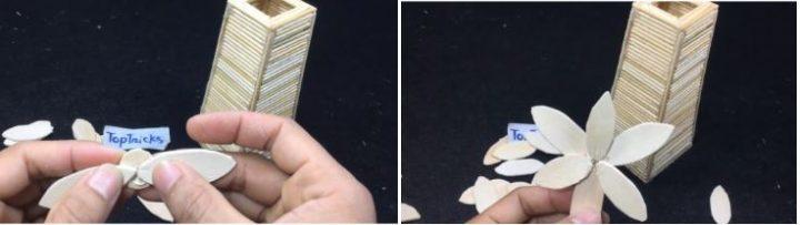 cách làm lọ hoa bằng tăm tre