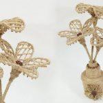 Cách làm lọ hoa mini trang trí từ dây thừng