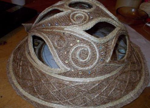 cách làm mũ đội bằng dây thừng
