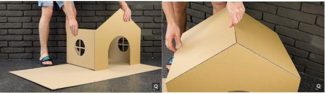 cách làm nhà mini cho cún con