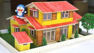cách làm nhà nobita và doremon bằng que kem