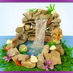 Cách làm thác nước bằng đá và keo nến