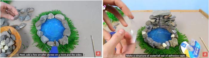 cách làm tháp nước bằng keo nến