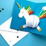 Hướng dẫn làm thiệp 3D kỳ lân dễ thương từ giấy