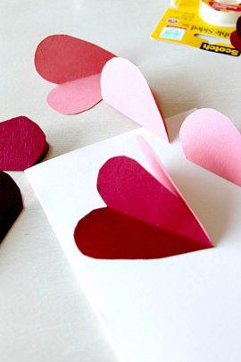 cách làm thiệp bằng giấy hình trái tim