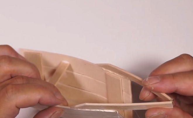 cách làm thuyền từ que kem gỗ