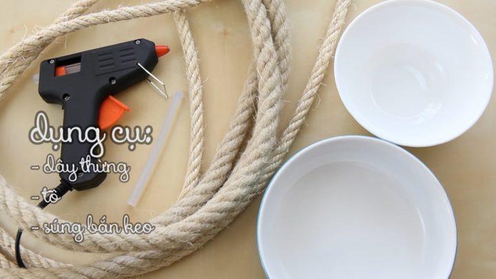 cách làm tô bằng dây thừng