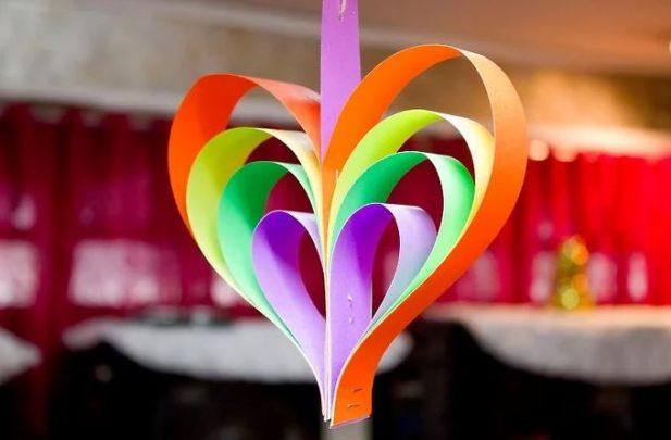 cách làm trái tim trang trí