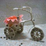 Cách làm xe đạp chở hoa bằng dây thừng