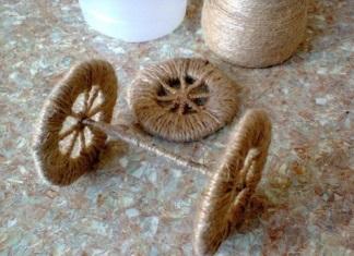 cách làm xe đạp hoa bằng dây thừng