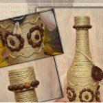 Hướng dẫn trang trí chai thủy tinh từ dây thừng