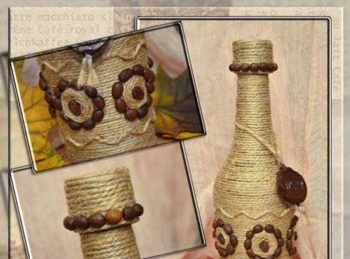 cách trang trí chai thủy tinh bằng dây thừng