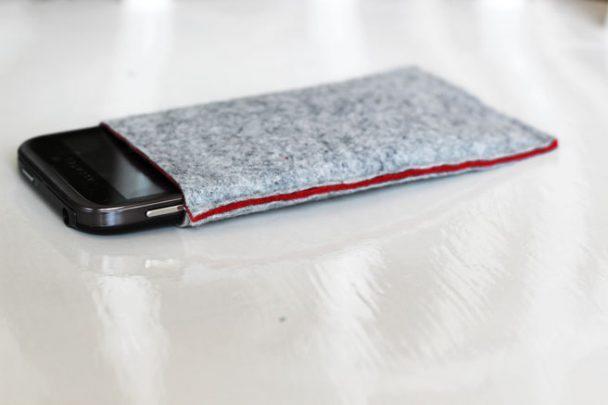 cách làm bao đựng điện thoại bằng vải dạ