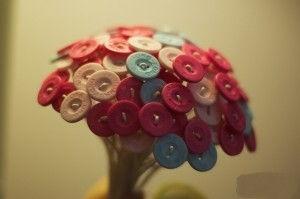 cách làm bó hoa từ cúc áo