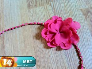 cách làm bờm hoa bằng vải