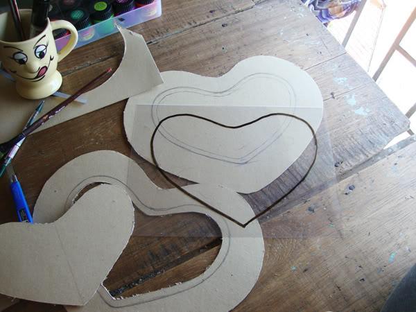 cách làm lồng đèn bằng giấy hình trái tim