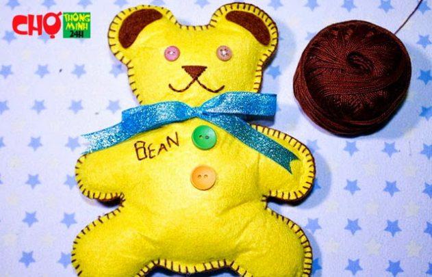 cách làm gấu bông từ vải nỉ