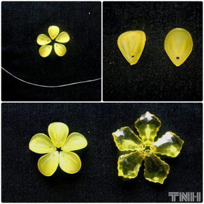 cách làm hoa mai pha lê tuyệt đẹp