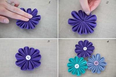 cách làm hoa vải đơn giản đa năng