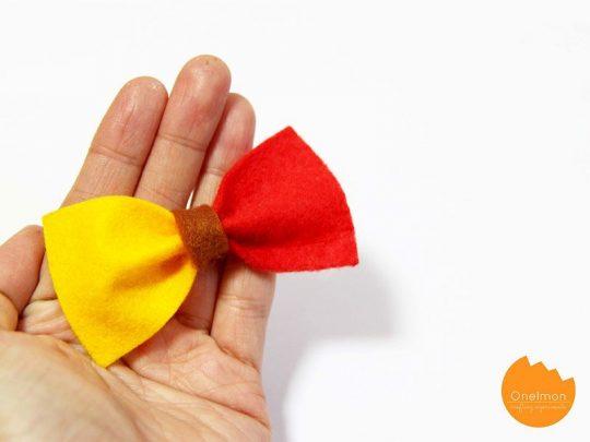 cách làm kẹp nơ bằng vải cho bé
