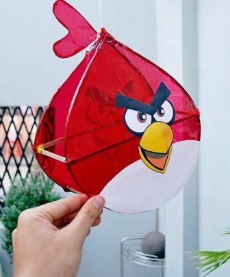 cách làm lồng đèn trung thu hình angry bird