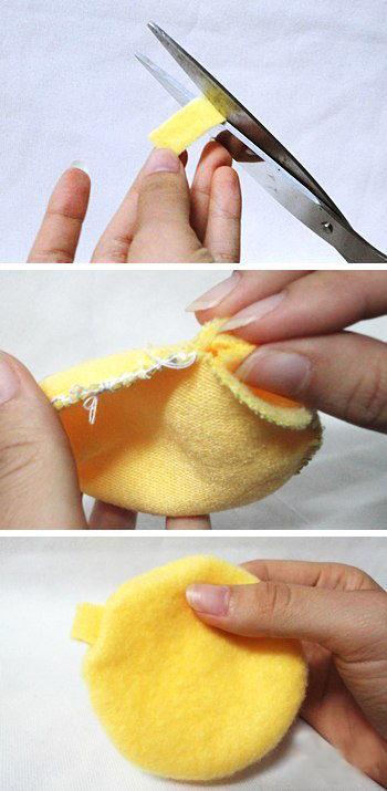 cách làm móc khóa gà bông