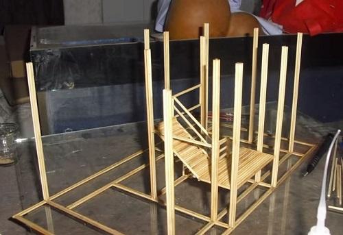 cách làm nhà bằng tăm tre đơn giản cho người mới bắt đầu