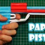 Hướng dẫn làm súng bằng giấy cho bé trai chơi trung thu