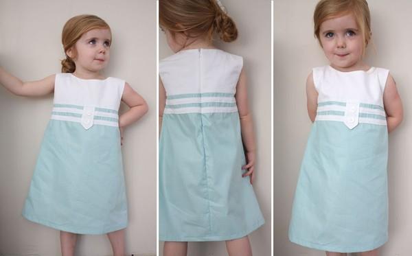 cách làm váy liền cho bé