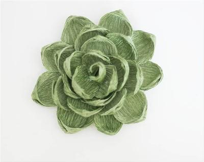 làm chậu hoa sen đá từ giấy nhún