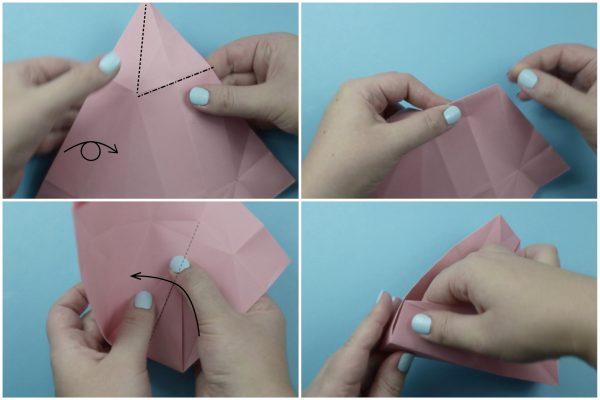Cách gấp hộp quà Origami hình bánh gato