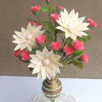 Hướng dẫn làm hoa hồng giả bằng giấy xốp