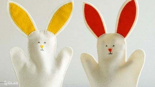 làm rối tay chú thỏ vui nhộn