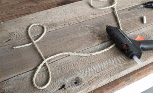 làm bảng hiệu quán bằng dây thừng